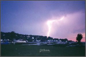 Lightning on Mackinac Island