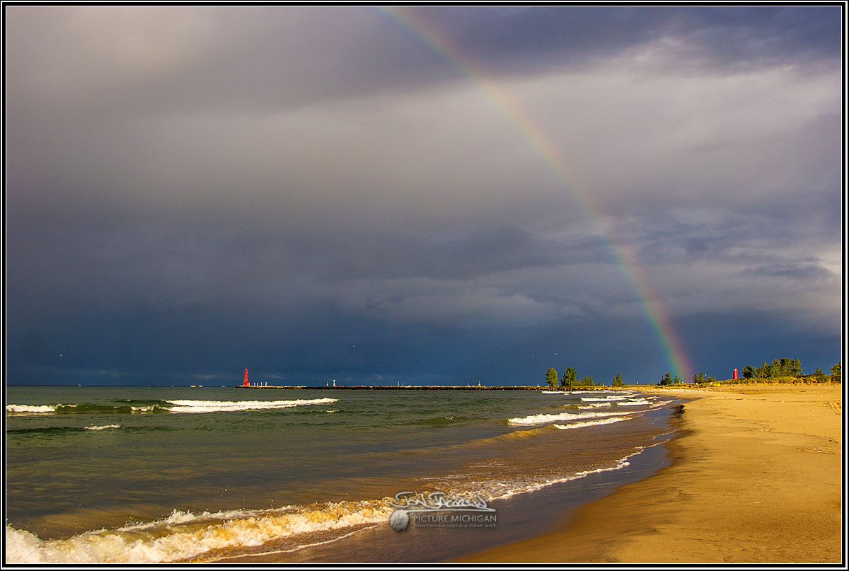Lake Effect Rainbow over Lake Michigan