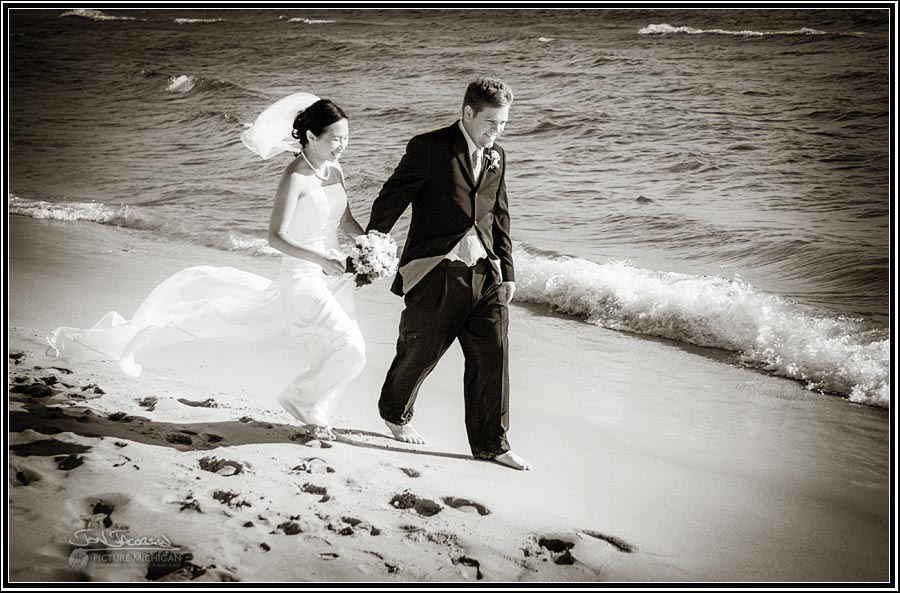Muskegon Lake Michigan Wedding Photography