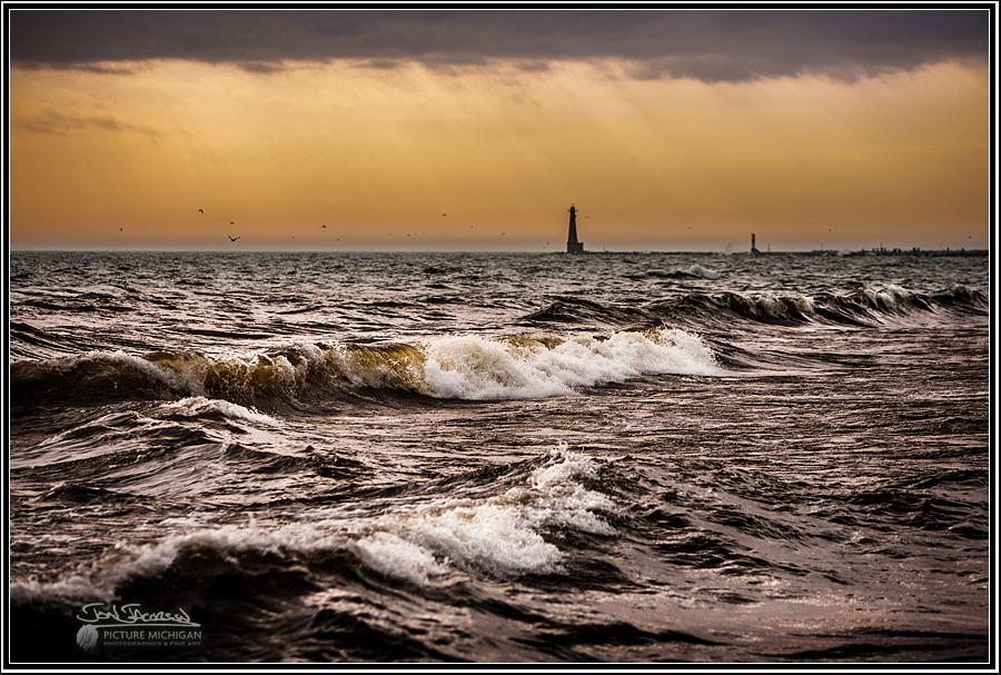 Wind on Lake Michigan