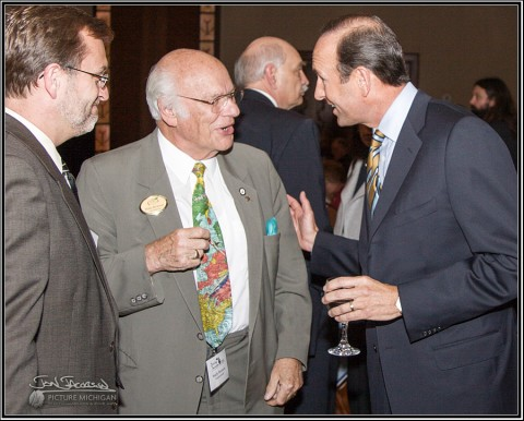 Dick DeVos and Wally Bronnor