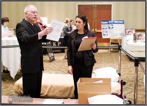Steve Yencich and Effie Minitsios working the Exhibition Floor