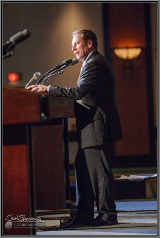 Tom Izzo presents at MLTA Conference