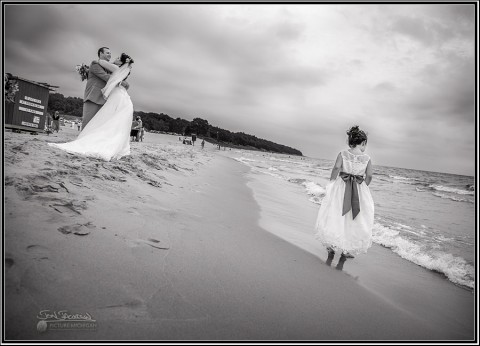 Lake Michigan Beach Wedding Photography